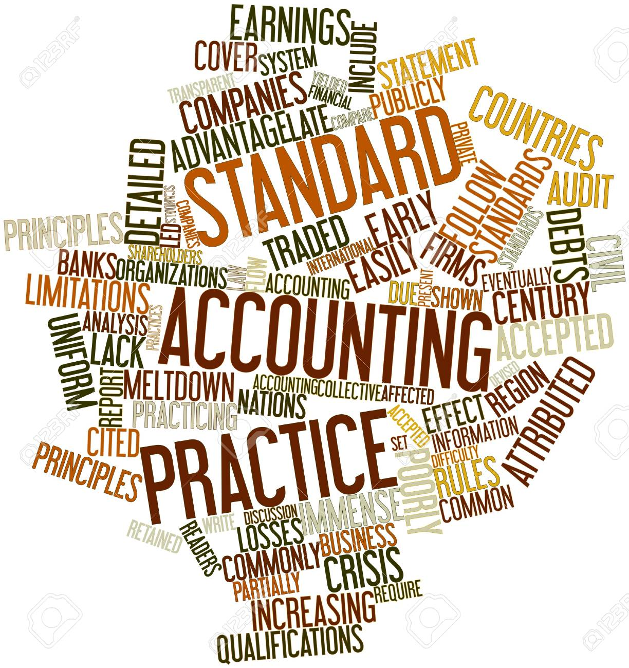 Abstract Word Cloud For Standard Accounting Practice With Related ...