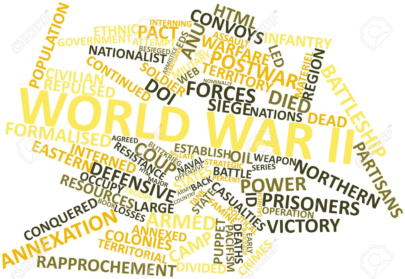 Abstract Word Cloud For World War II With Related Tags And Terms ...
