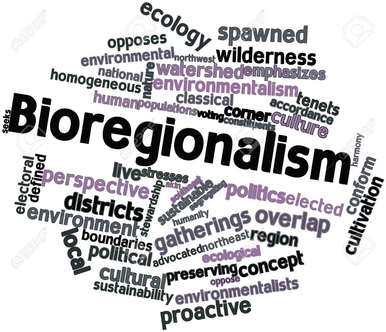 Abstract word cloud for Bioregionalism with related tags and terms Stock Photo - 16498554