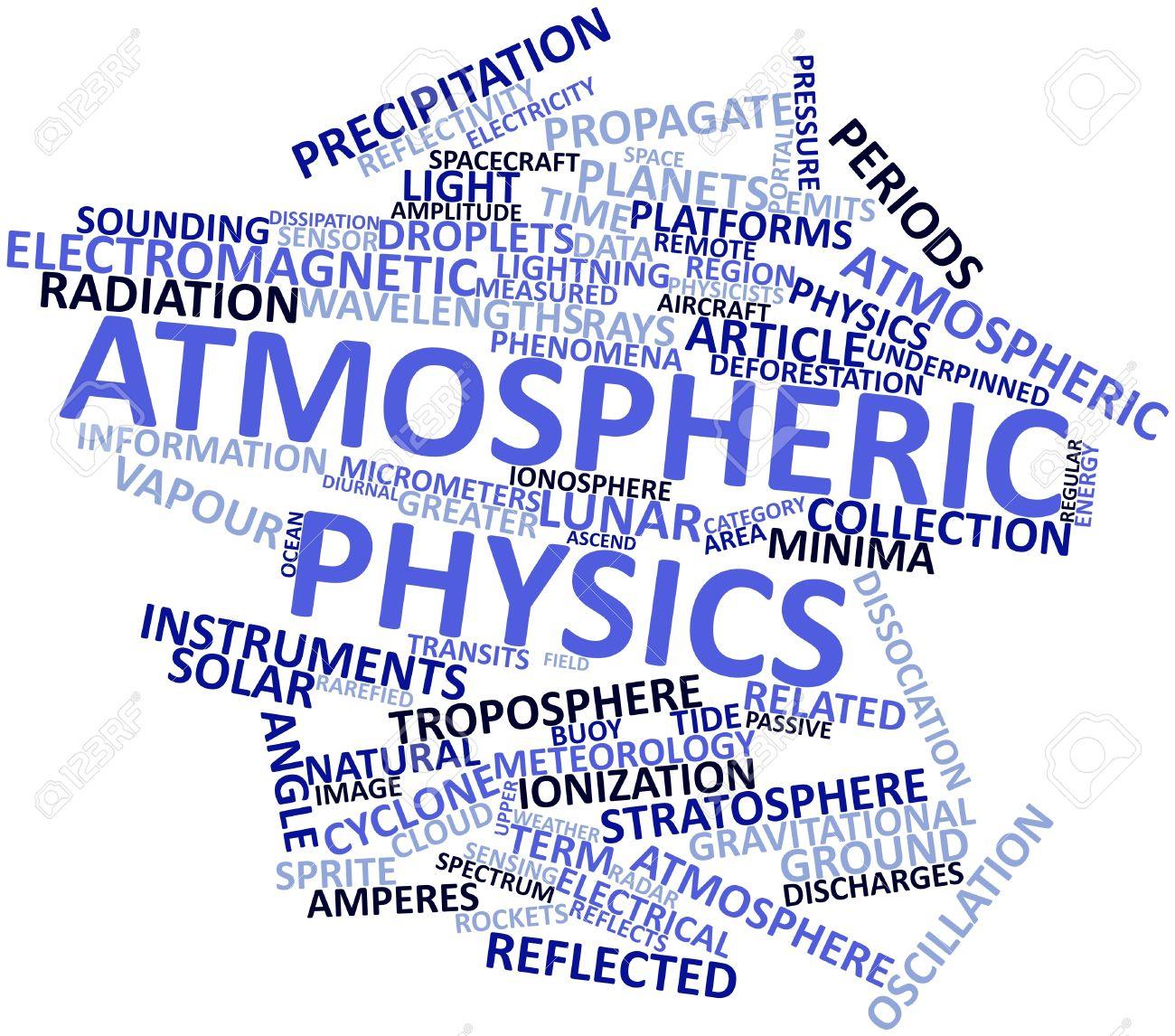 単語の雲を抽象的な大気の物理学...