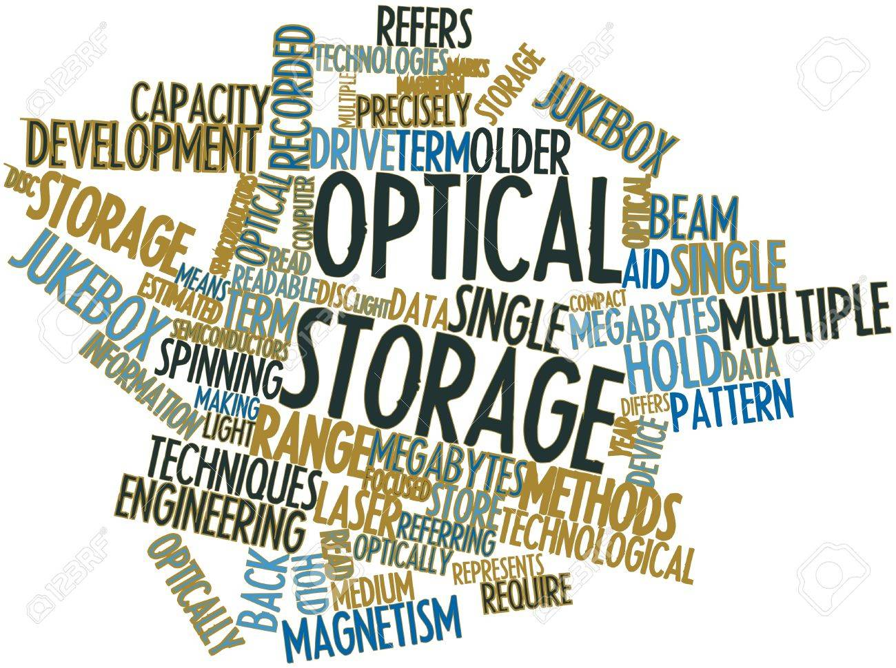 Abstract word cloud for Optical storage with related tags and terms Stock Photo - 16500484