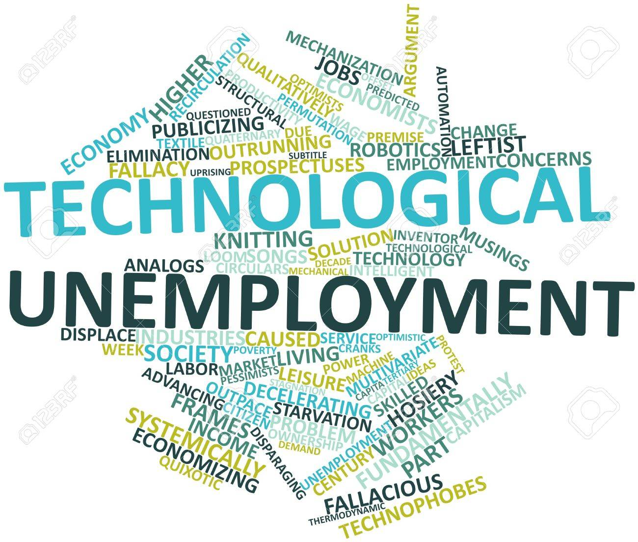 Abstract word cloud for Technological unemployment with related tags and terms Stock Photo - 16499884