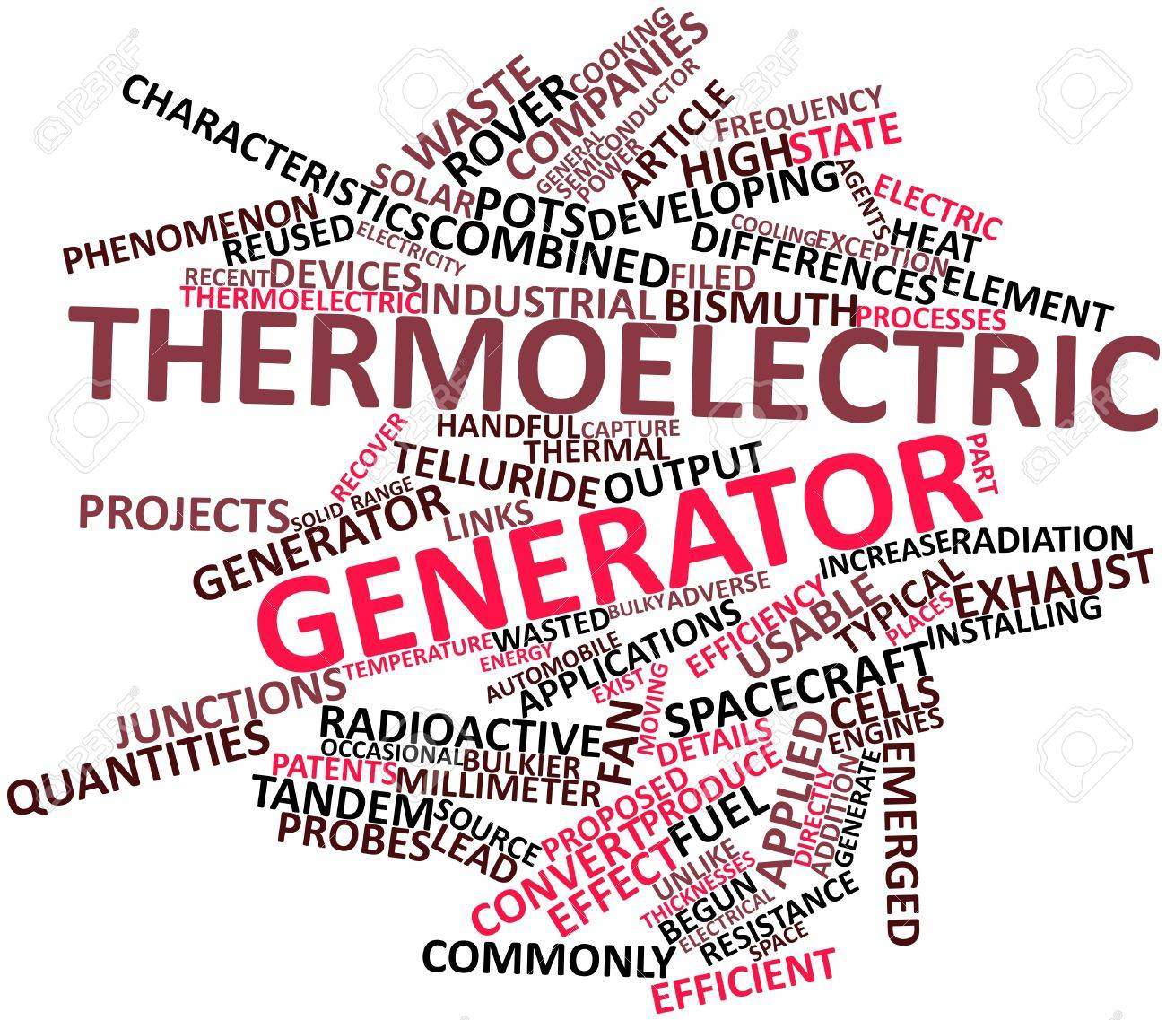 Abstract word cloud for Thermoelectric generator with related tags and terms Stock Photo - 16500731