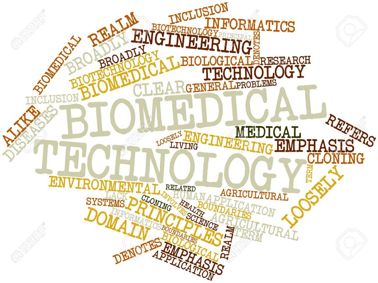 Abstract word cloud for Biomedical technology with related tags and terms Stock Photo - 16499691