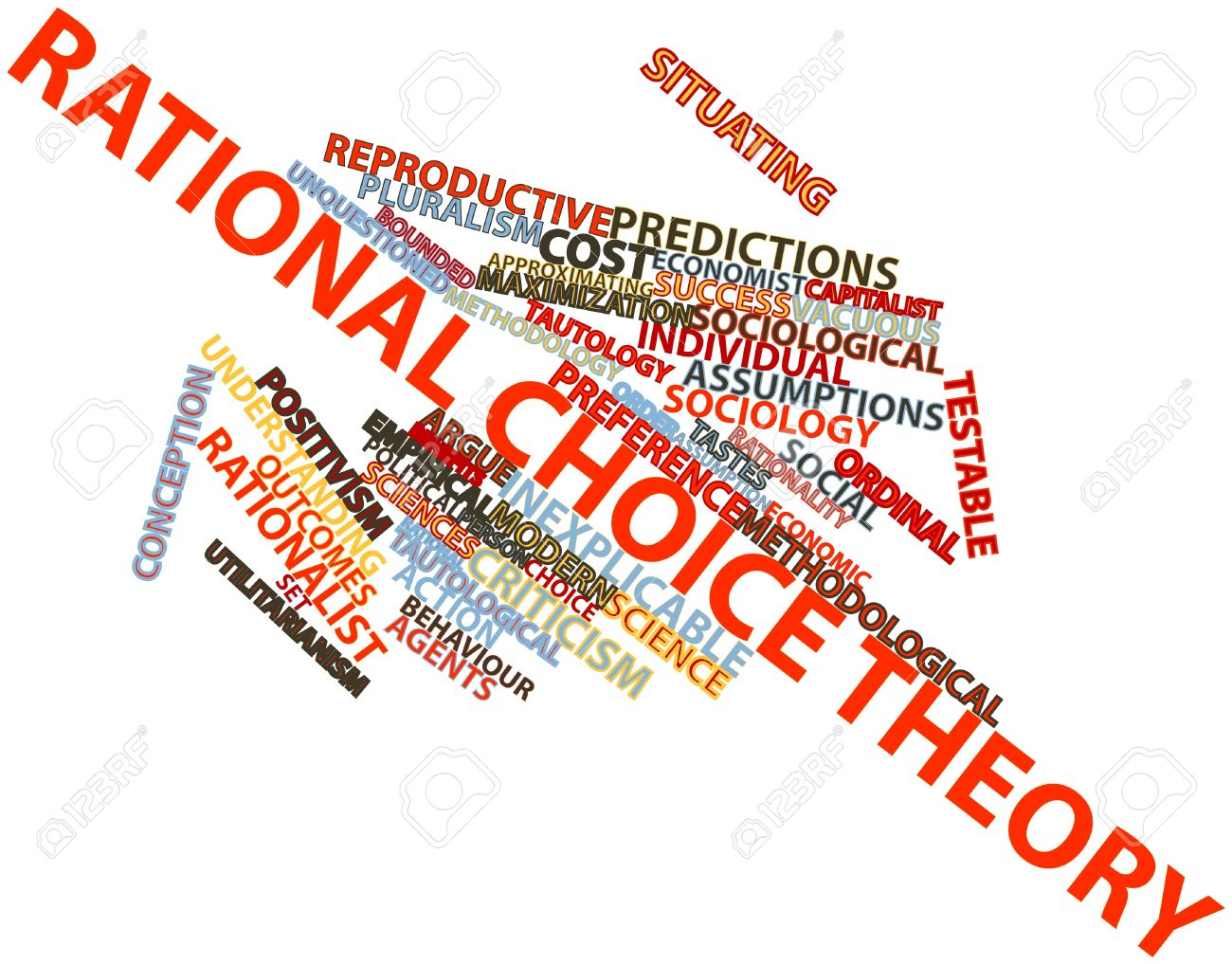 Abstract word cloud for Rational choice theory with related tags and terms Stock Photo - 16499663