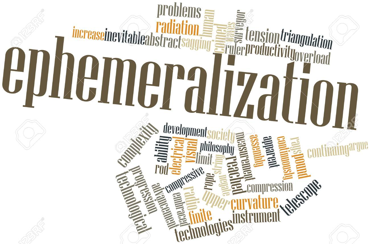 Abstract word cloud for Ephemeralization with related tags and terms Stock Photo - 16499454
