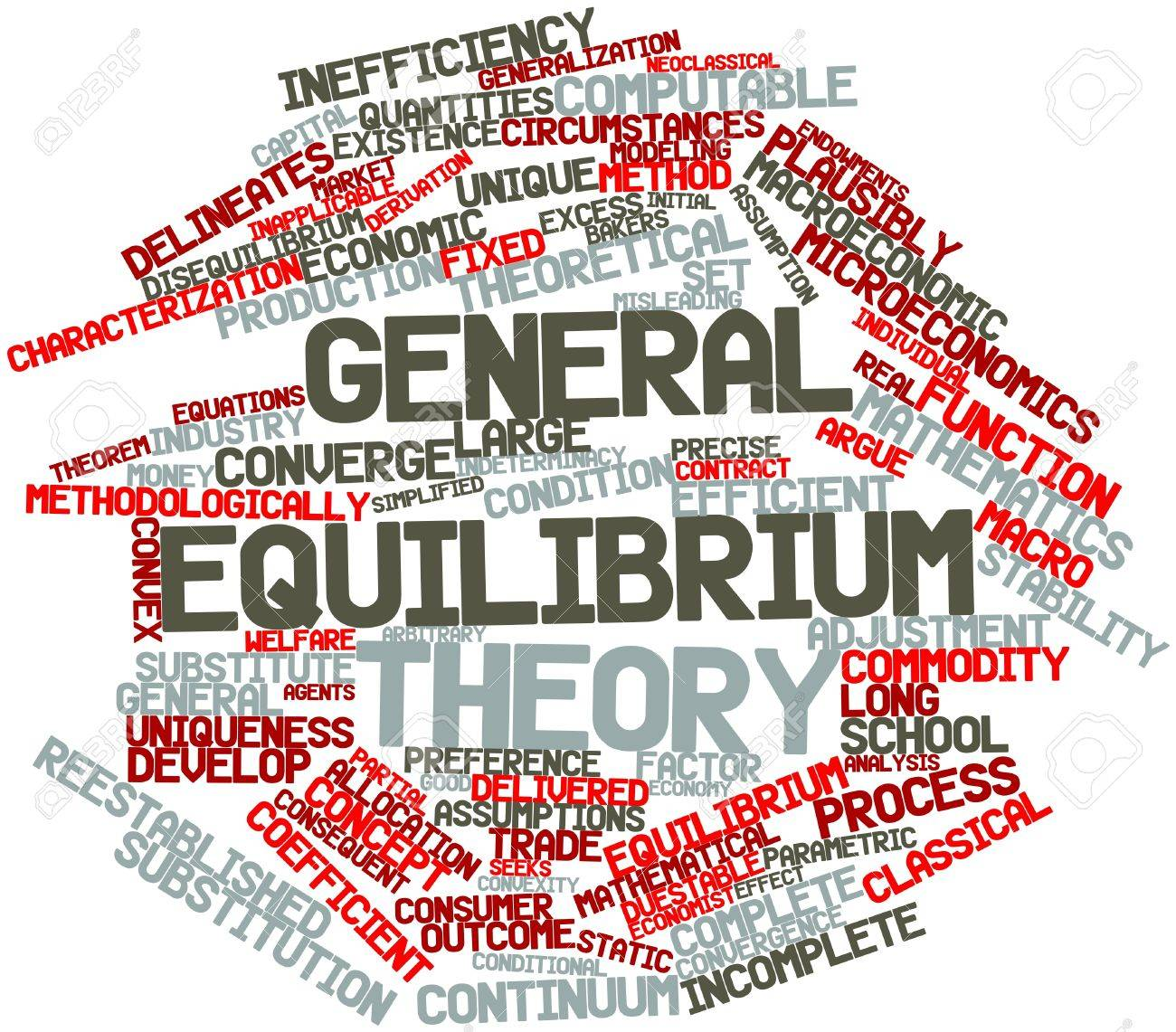 Abstract word cloud for General equilibrium theory with related tags and terms Stock Photo - 16500805