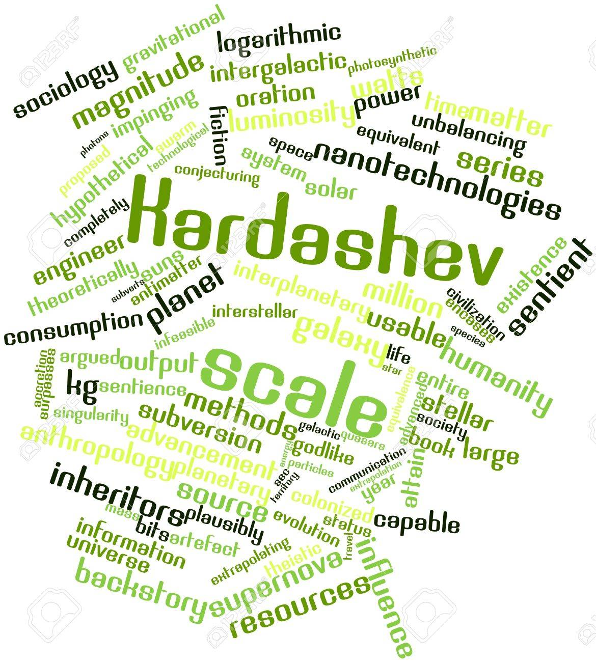 Abstract word cloud for Kardashev scale with related tags and terms Stock Photo - 16500252