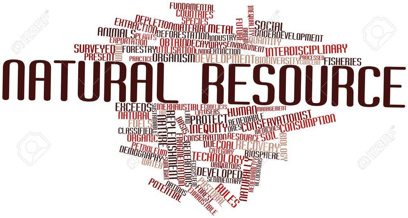 Abstract word cloud for Natural resource with related tags and terms Stock Photo - 16499504