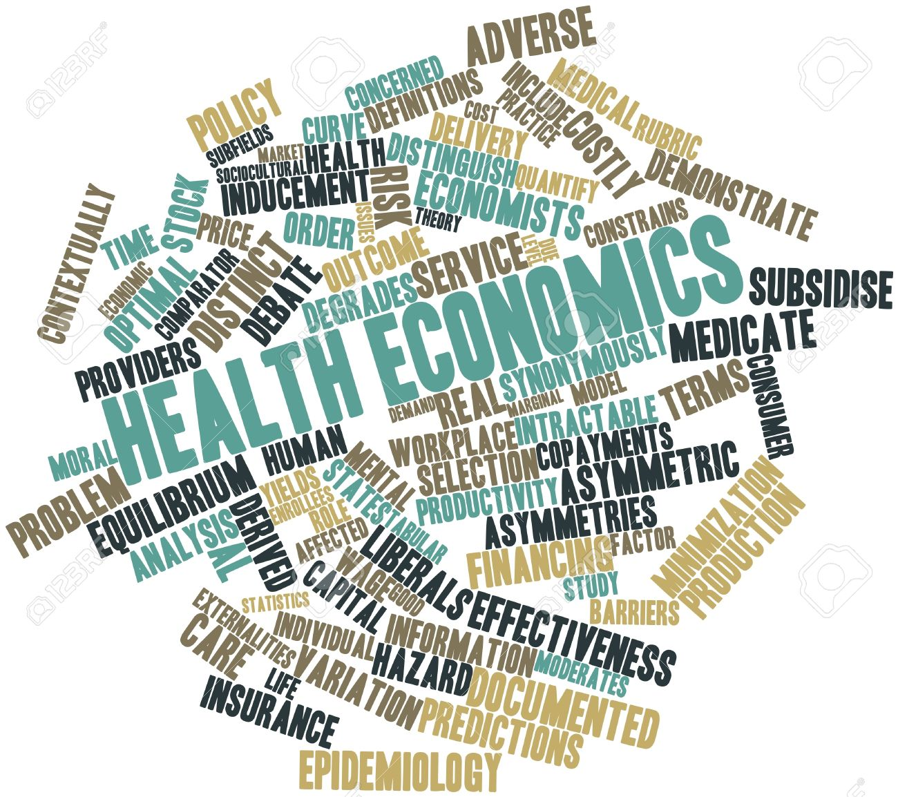 Abstract Word Cloud For Health Economics With Related Tags And ...