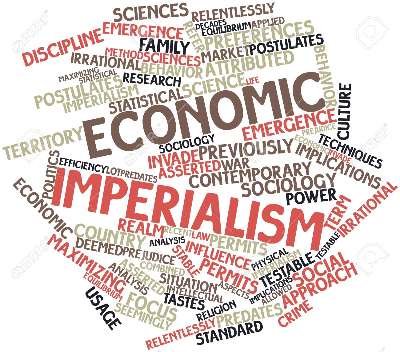 Abstract Word Cloud For Economic Imperialism With Related Tags  Abstract Word Cloud For Economic Imperialism With Related Tags And Terms Stock Photo Photo  Abstract Word Cloud For Economic Imperialism With Related Tags And Terms