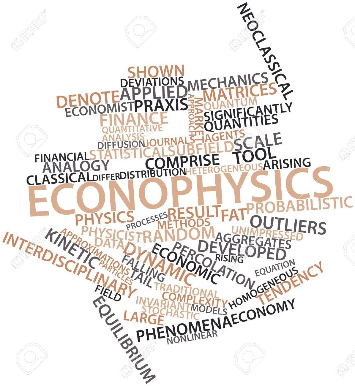 Abstract word cloud for Econophysics with related tags and terms Stock Photo - 16528118