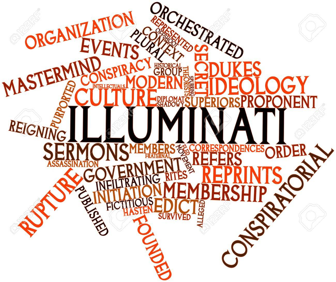 Abstract word cloud for Illuminati with related tags and terms Stock Photo - 16529825