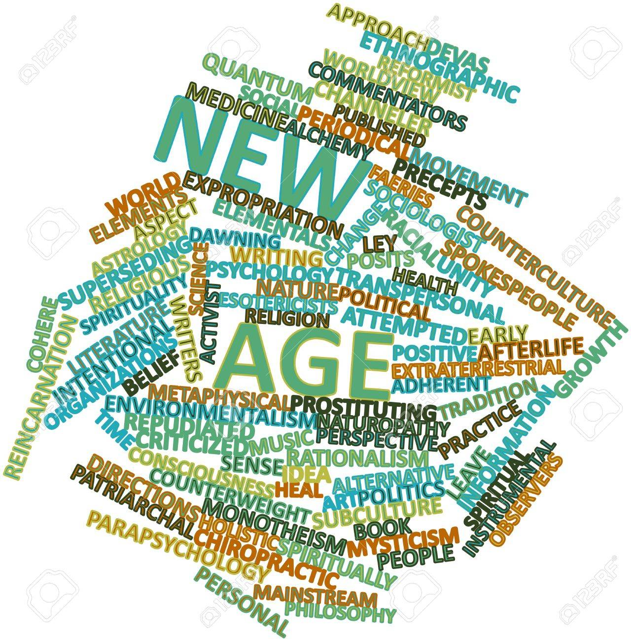 Abstract word cloud for New Age with related tags and terms Stock Photo - 16530848