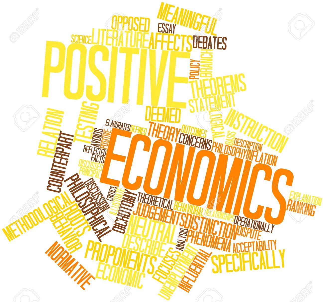 Abstract word cloud for Positive economics with related tags and terms Stock Photo - 16529724