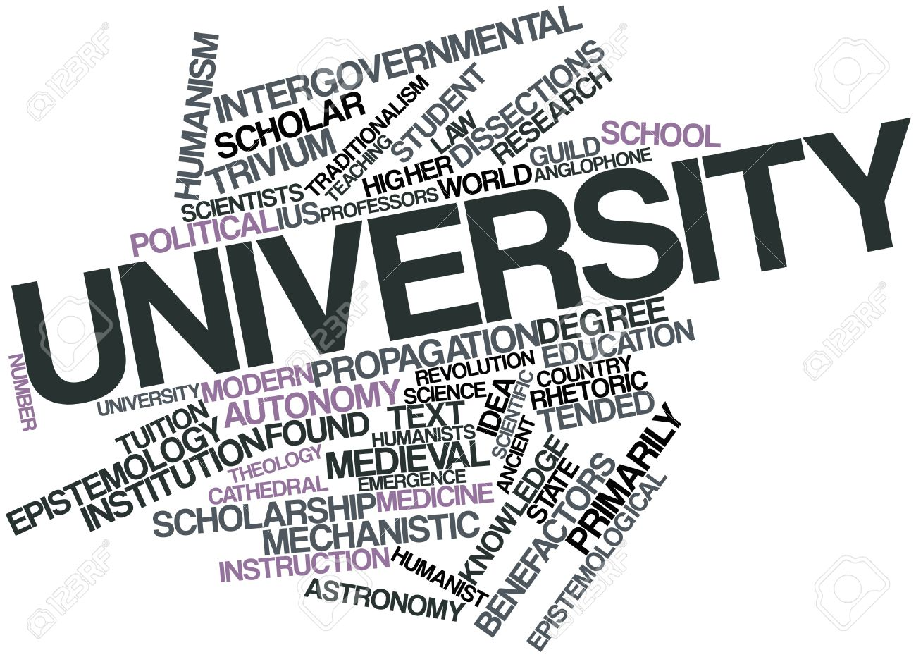Abstract word cloud for University with related tags and terms Stock Photo - 16527708