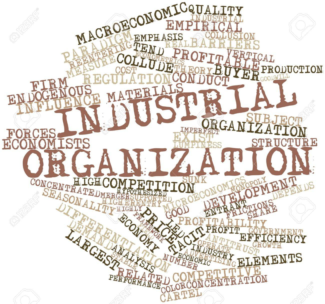 Abstract word cloud for Industrial organization with related tags and terms Stock Photo - 16560426