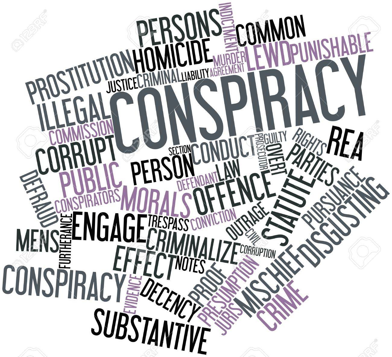 Abstract word cloud for Conspiracy with related tags and terms Stock Photo - 16559858
