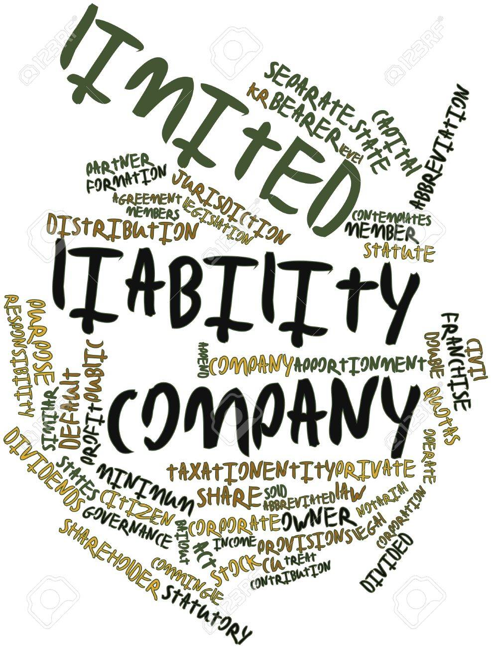 Abstract word cloud for Limited liability company with related tags and terms Stock Photo - 16571940