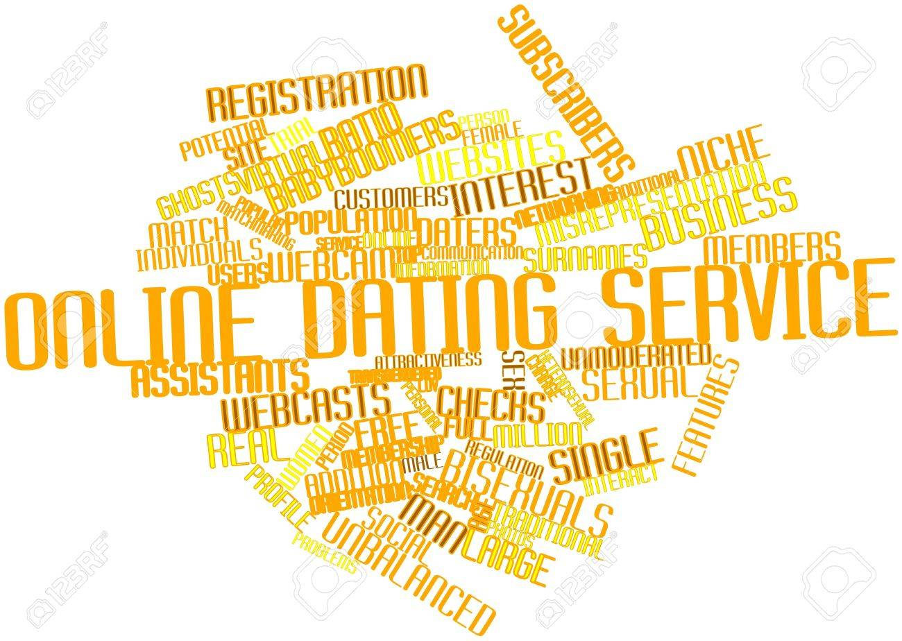 Abstract word cloud for Online dating service with related tags and terms Stock Photo - 16572089