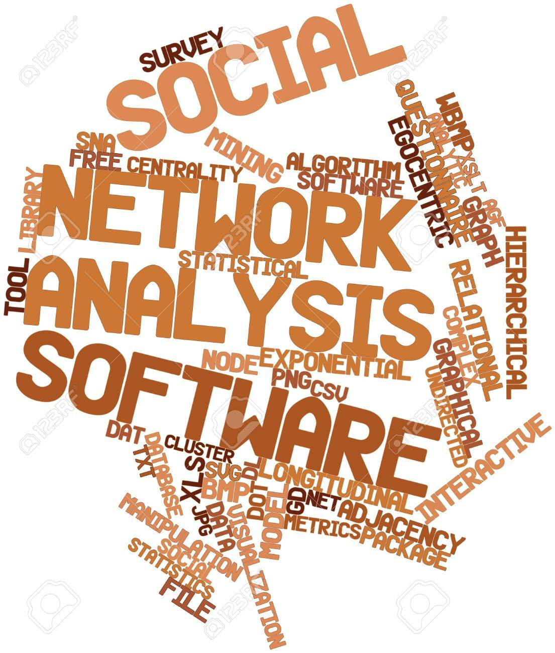 Abstract Word Cloud For Social Network Analysis Software With ...