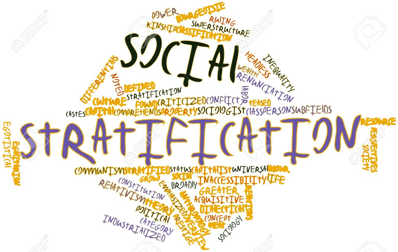 abstract word cloud for social stratification with related tags