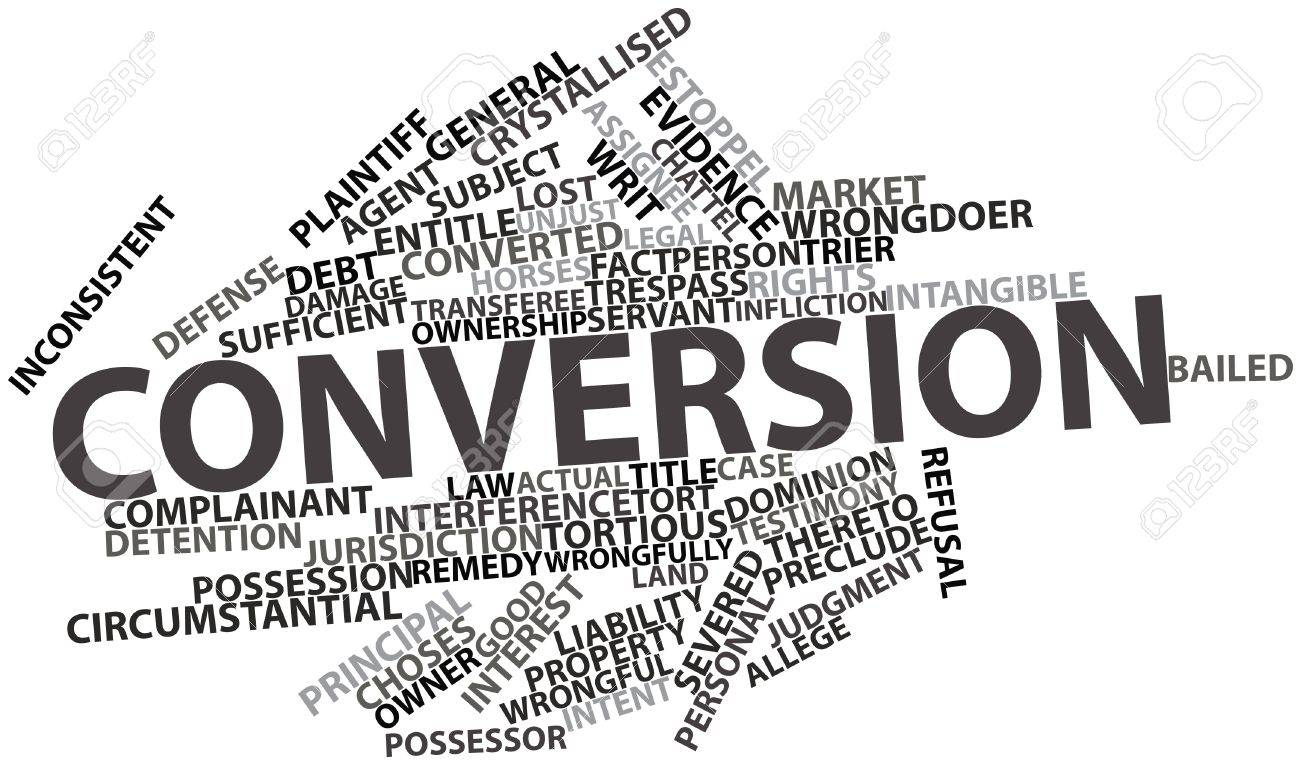 Abstract word cloud for Conversion with related tags and terms Stock Photo - 16578551