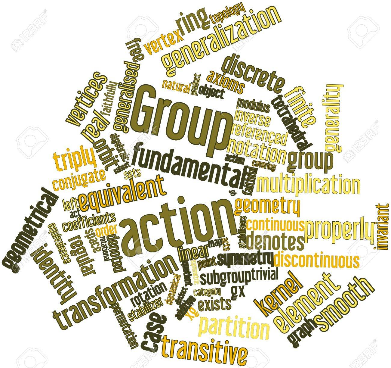 Abstract word cloud for Group action with related tags and terms Stock Photo - 16578642