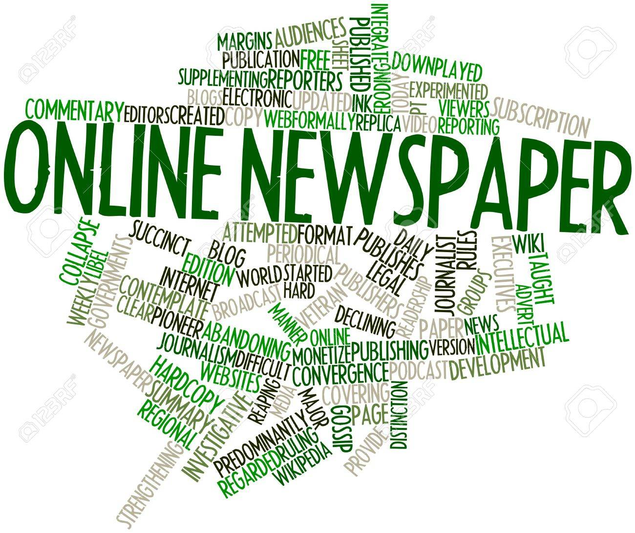 Abstract word cloud for Online newspaper with related tags and terms Stock Photo - 16578945