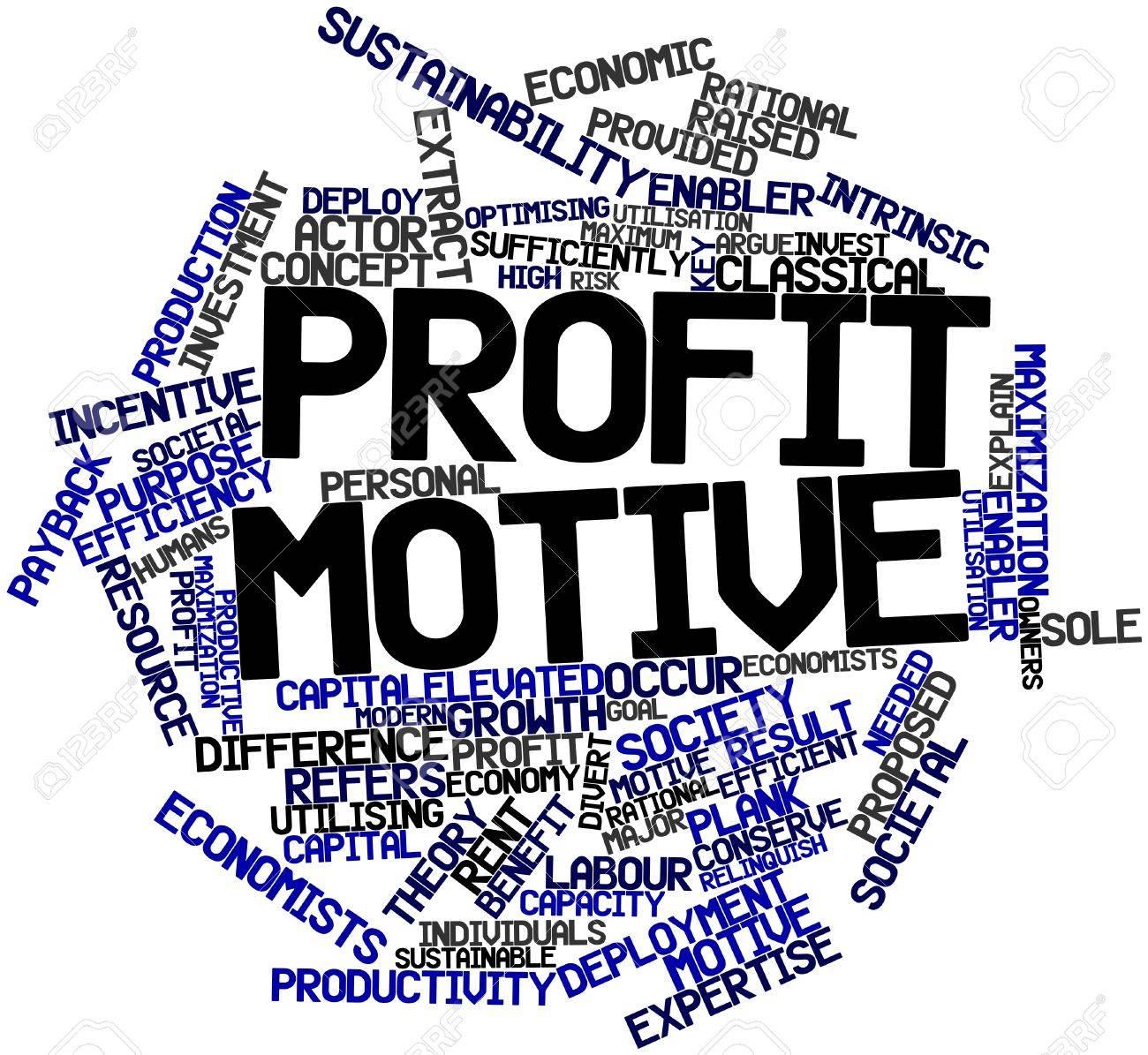 Kết quả hình ảnh cho profit motive