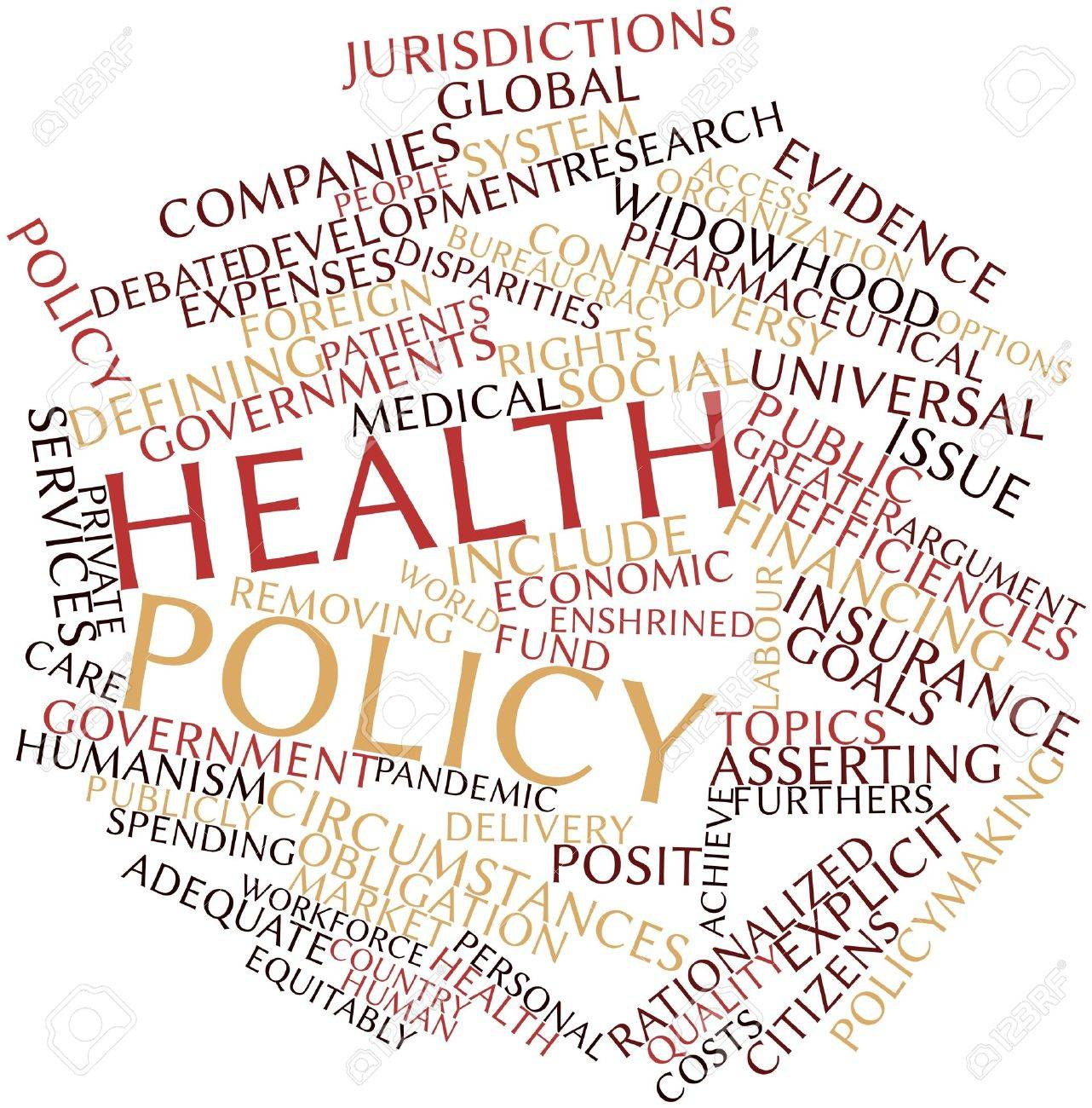 Abstract Word Cloud For Health Policy With Related Tags And Terms ...