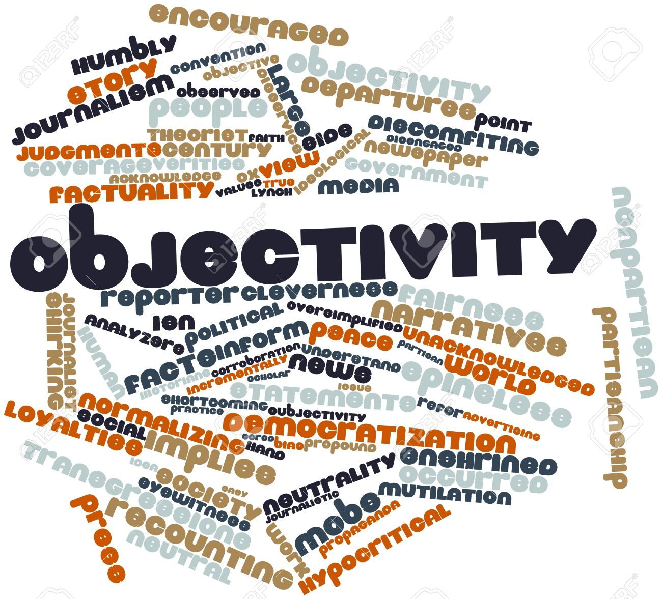 Abstract word cloud for Objectivity with related tags and terms Stock Photo - 16580021