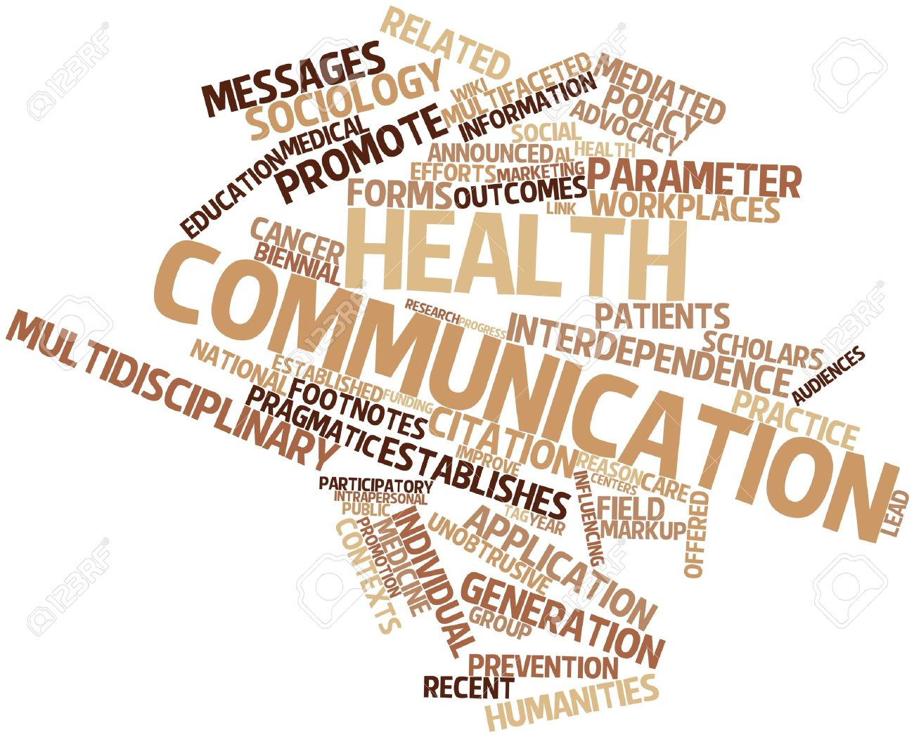Abstract Word Cloud For Health Communication With Related Tags ...
