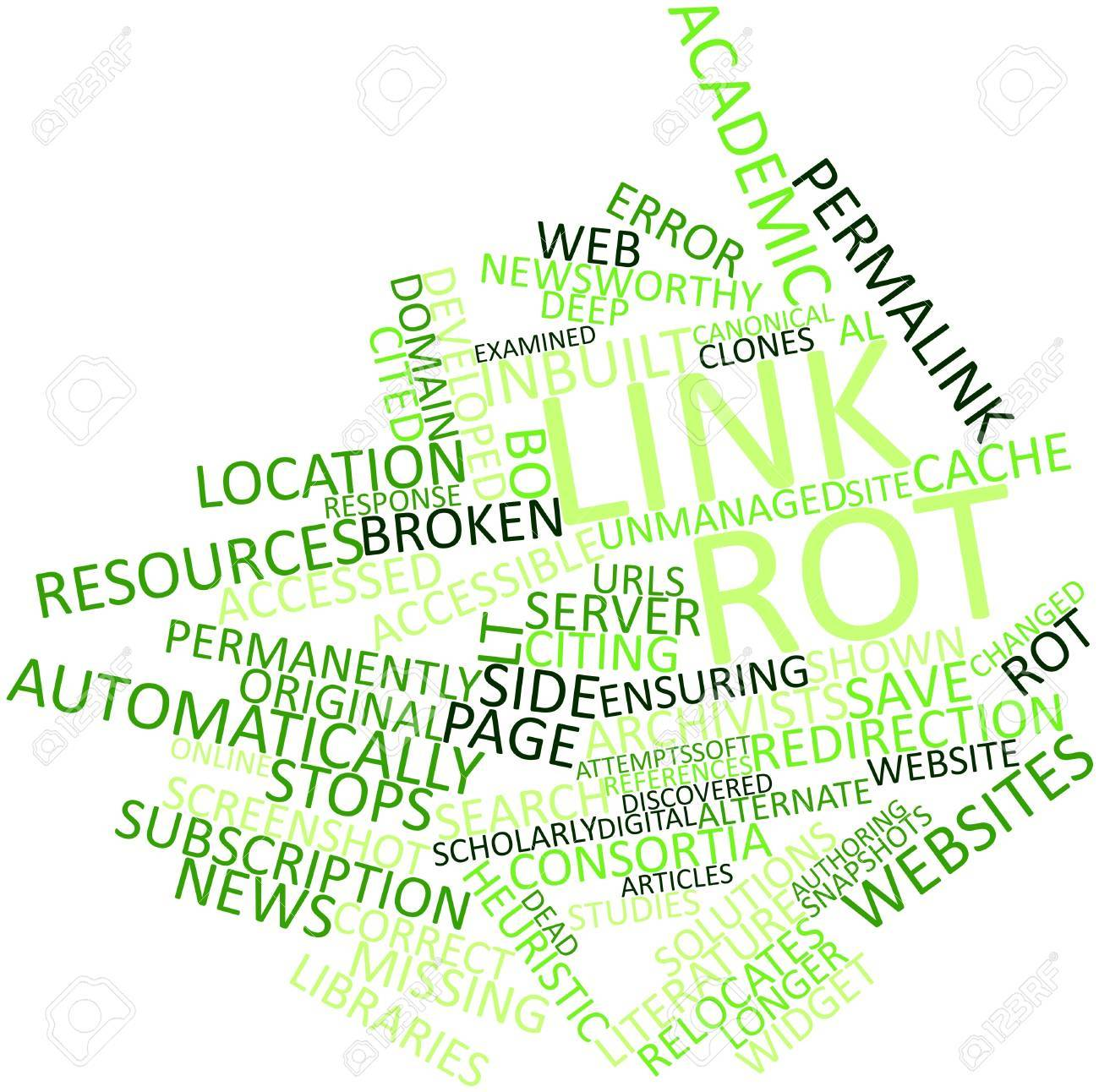 Abstract word cloud for Link rot with related tags and terms Stock Photo - 16602449