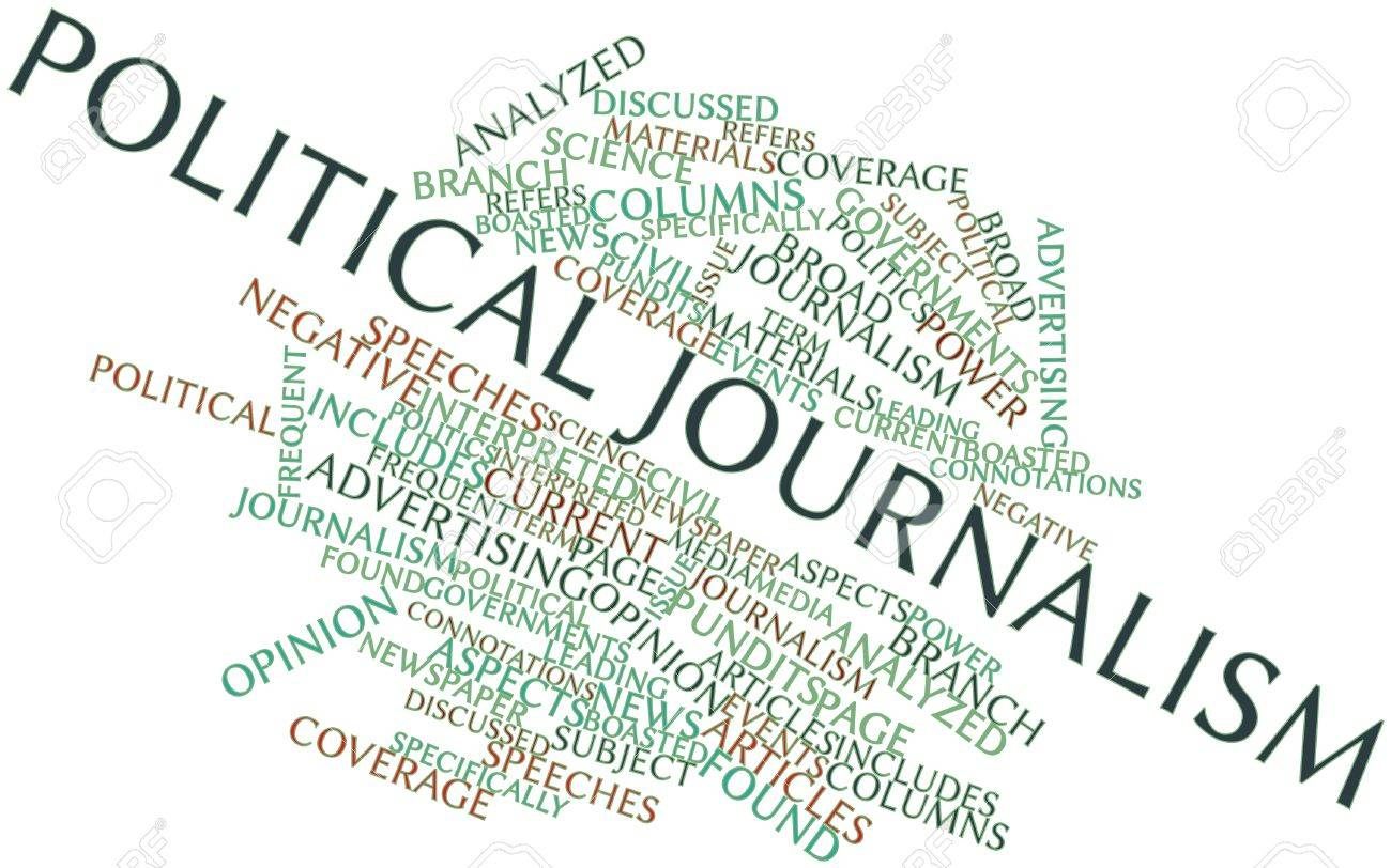 Abstract word cloud for Political journalism with related tags and terms Stock Photo - 16602118