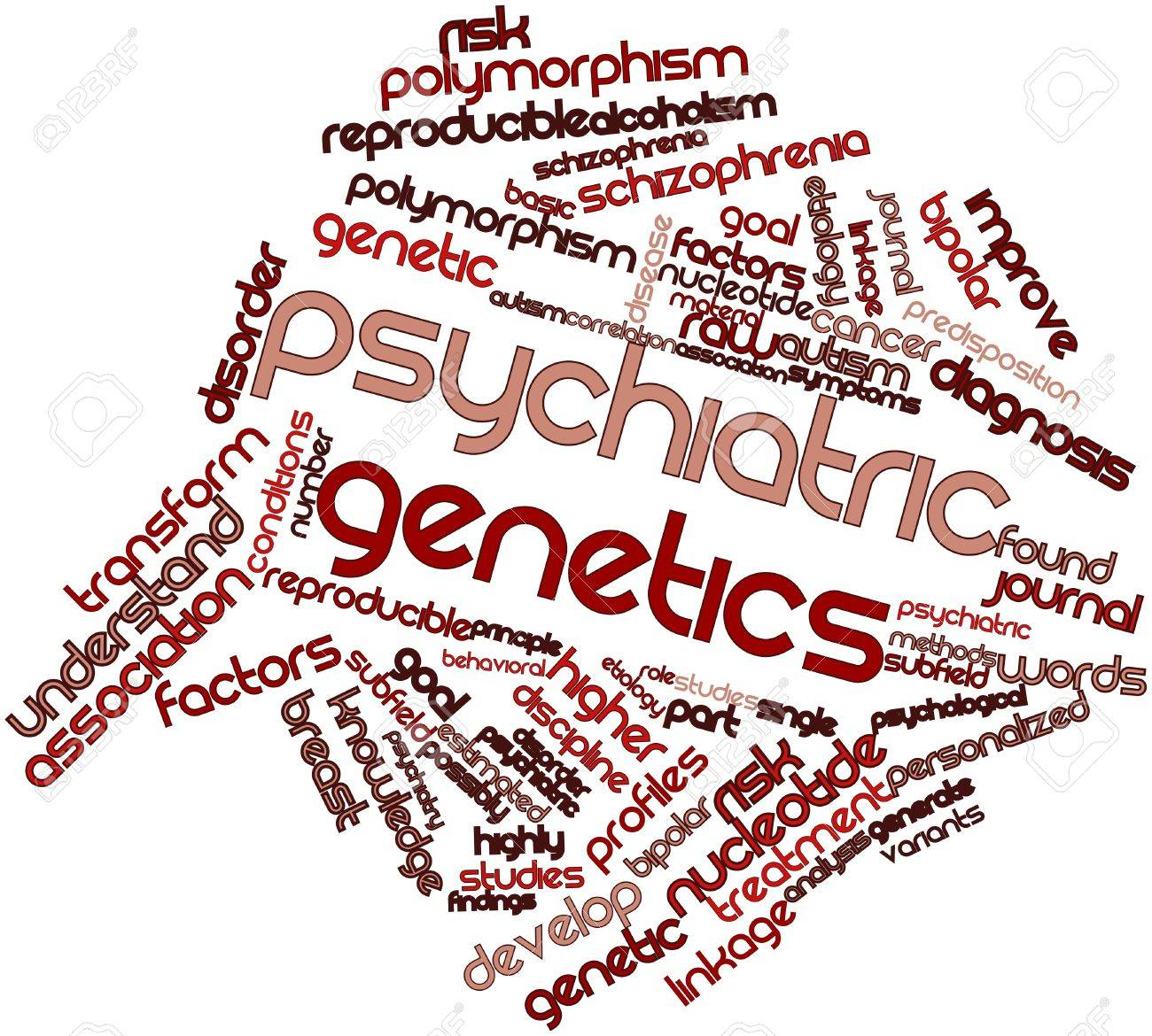 Abstract word cloud for Psychiatric genetics with related tags and terms Stock Photo - 16603224