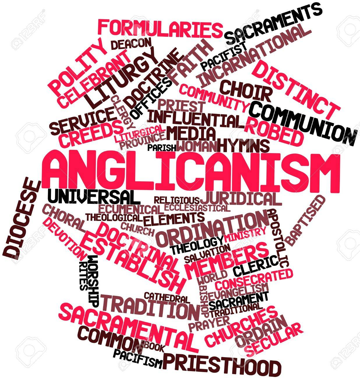 Abstract word cloud for Anglicanism with related tags and terms Stock Photo - 16617621