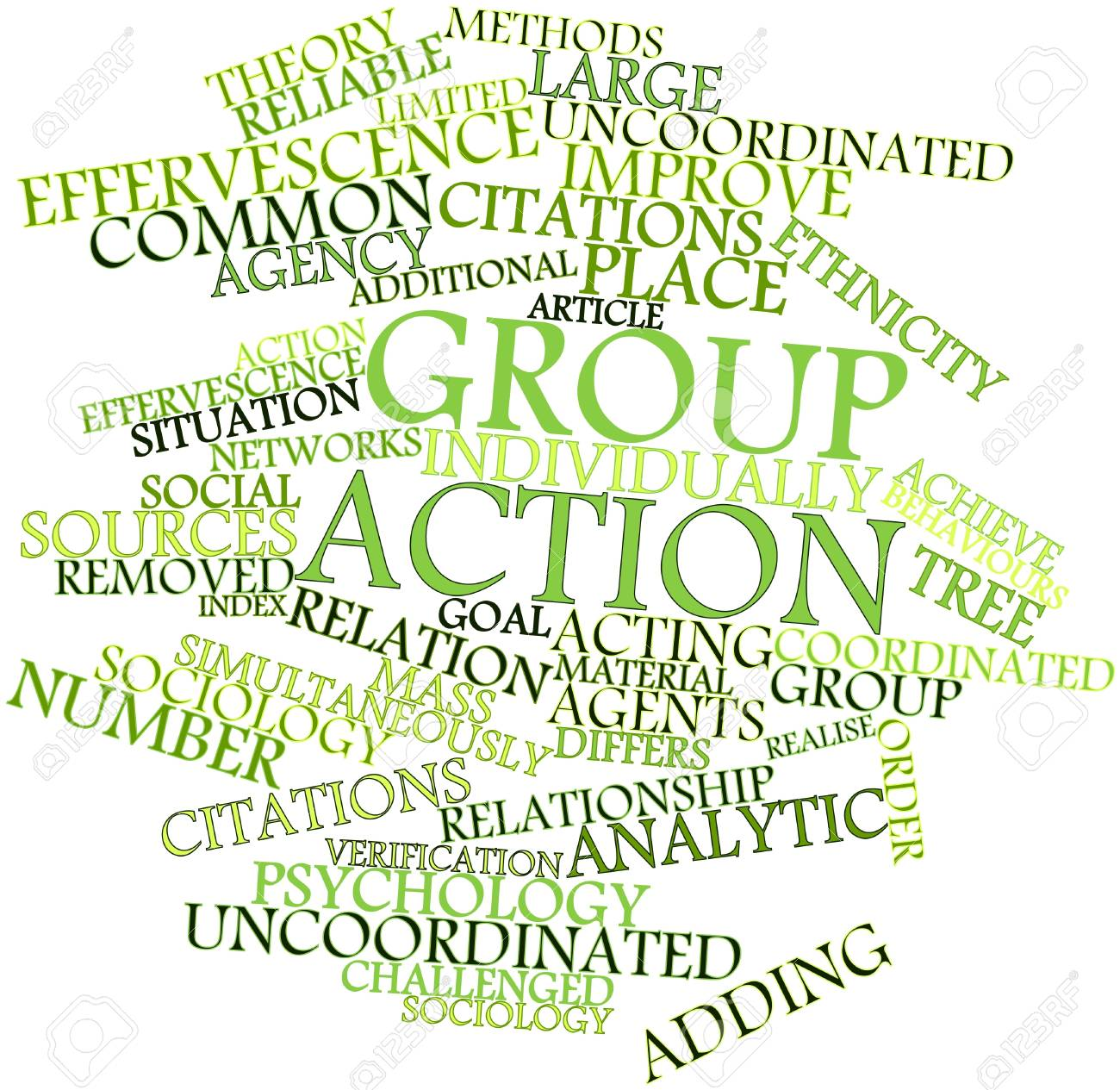 Abstract word cloud for Group action with related tags and terms Stock Photo - 16617634