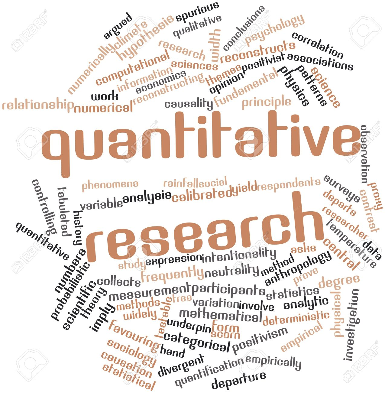 What Are The Differences Between Quantitative And Qualitative Data  Abstract Word Cloud For Quantitative Research With Related Tags And Terms Stock Photo What Are The Differences Between Quantitative And Qualitative