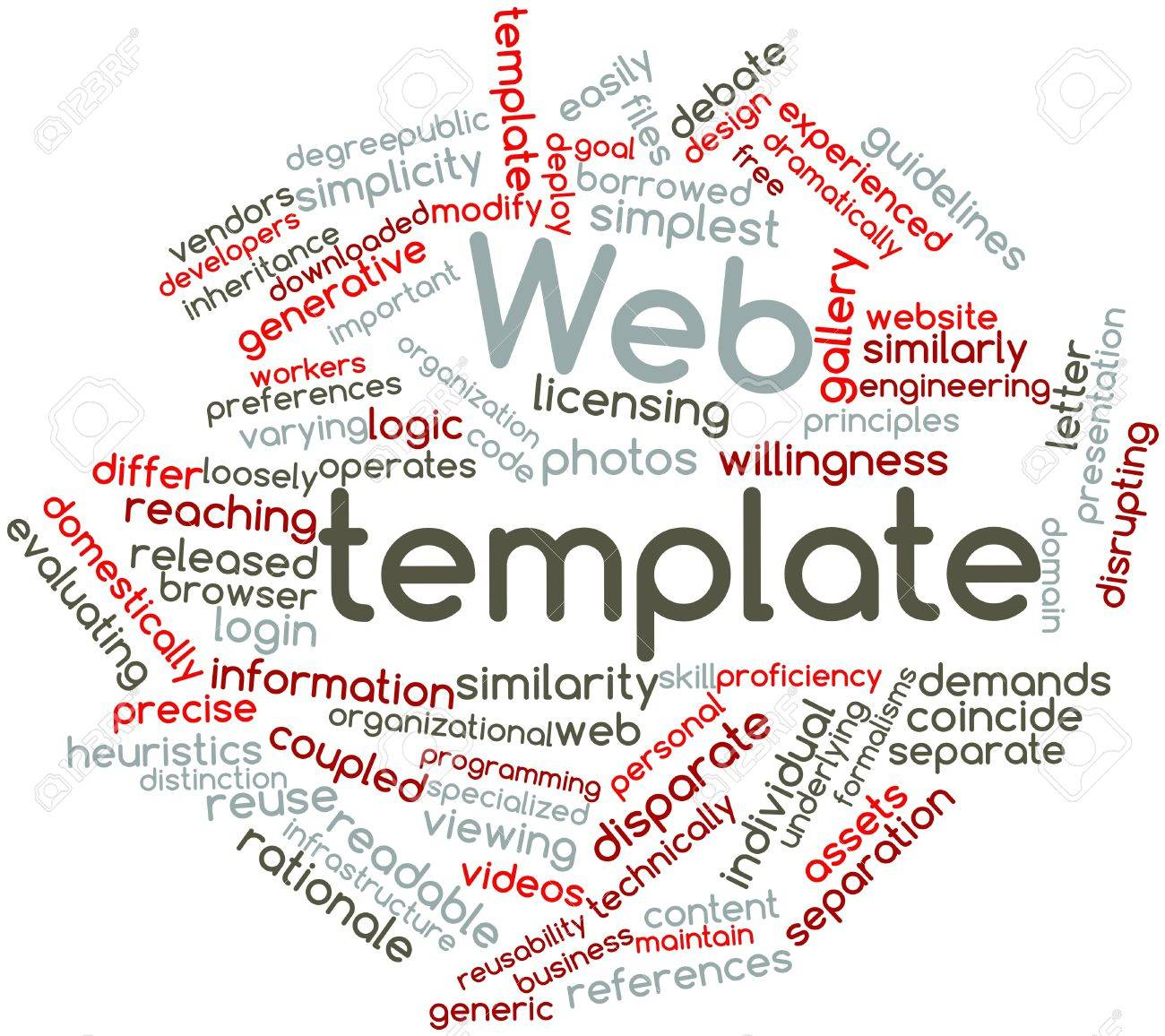 Abstract Word Cloud For Web Template With Related Tags And Terms ...