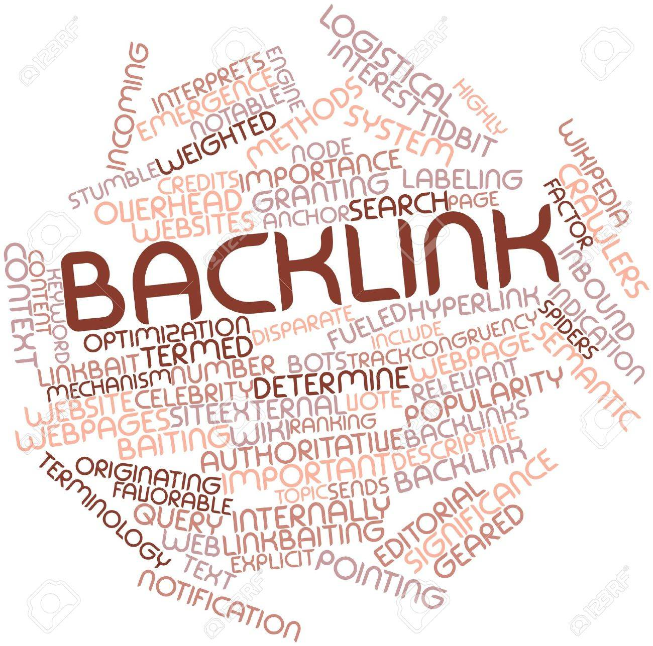 Abstract word cloud for Backlink with related tags and terms Stock Photo - 16629178