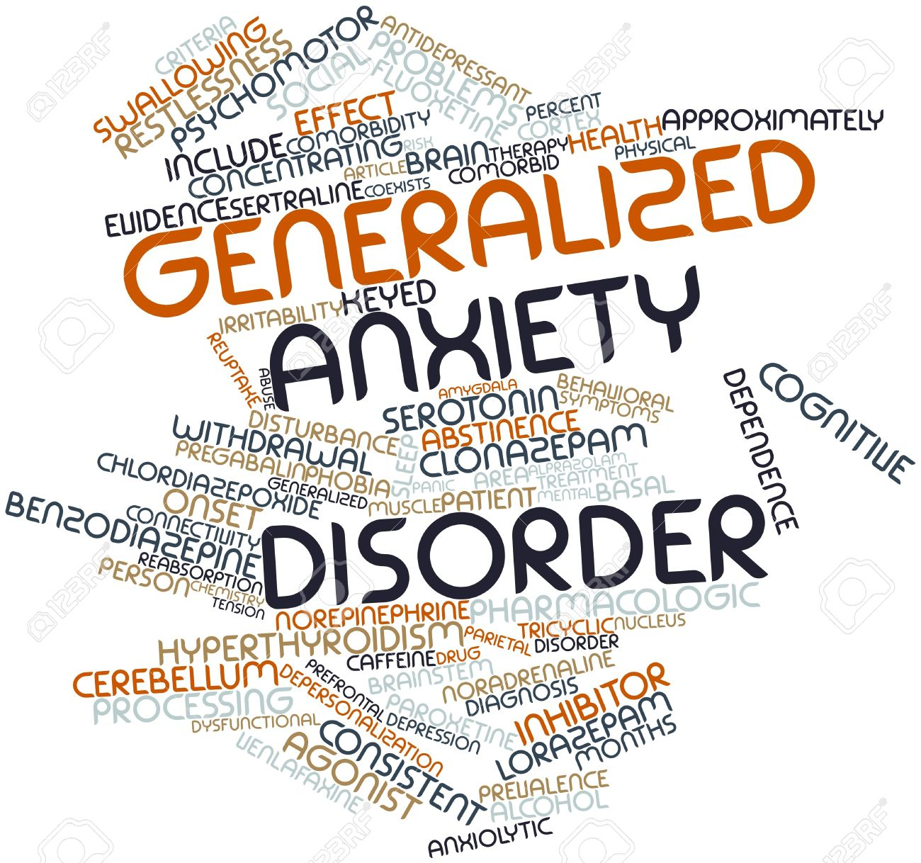 Abstract word cloud for generalized anxiety disorder with related abstract word cloud for generalized anxiety disorder with related tags and terms stock photo 16629177 biocorpaavc Image collections