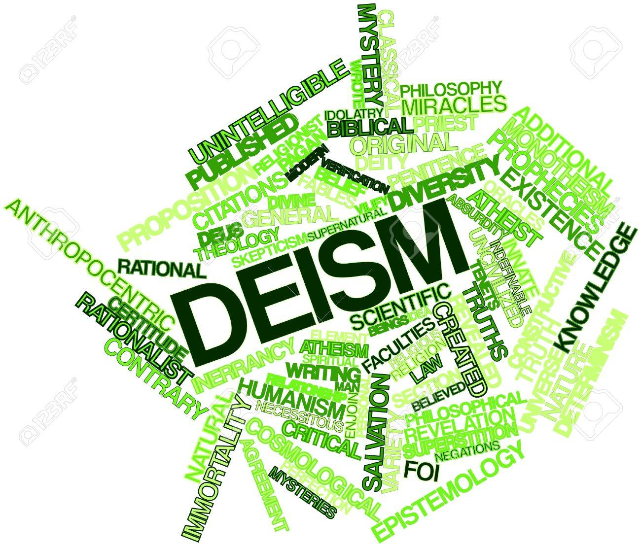 Abstract word cloud for Deism with related tags and terms Stock Photo - 16633208