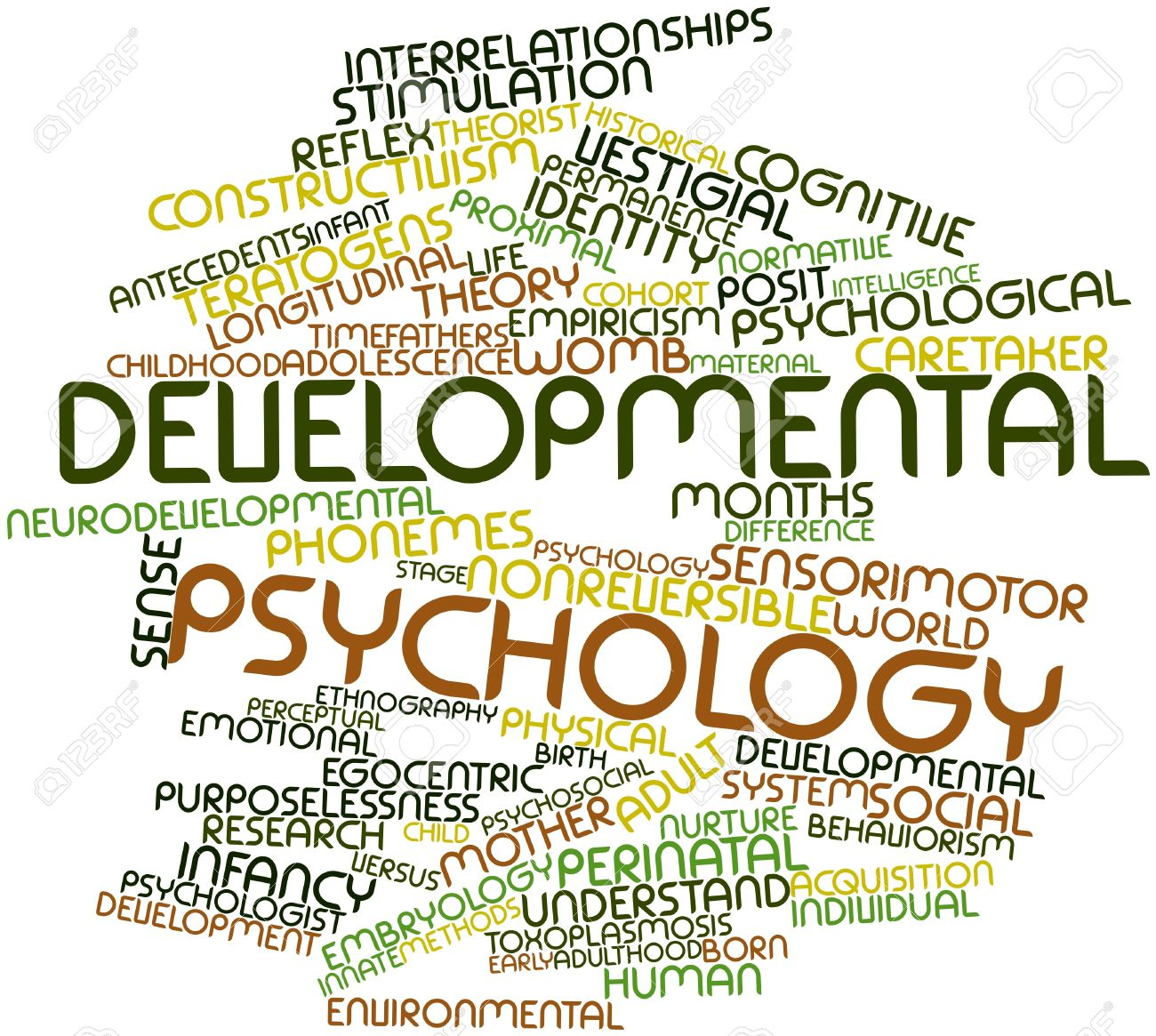 abstract word cloud for developmental psychology with related