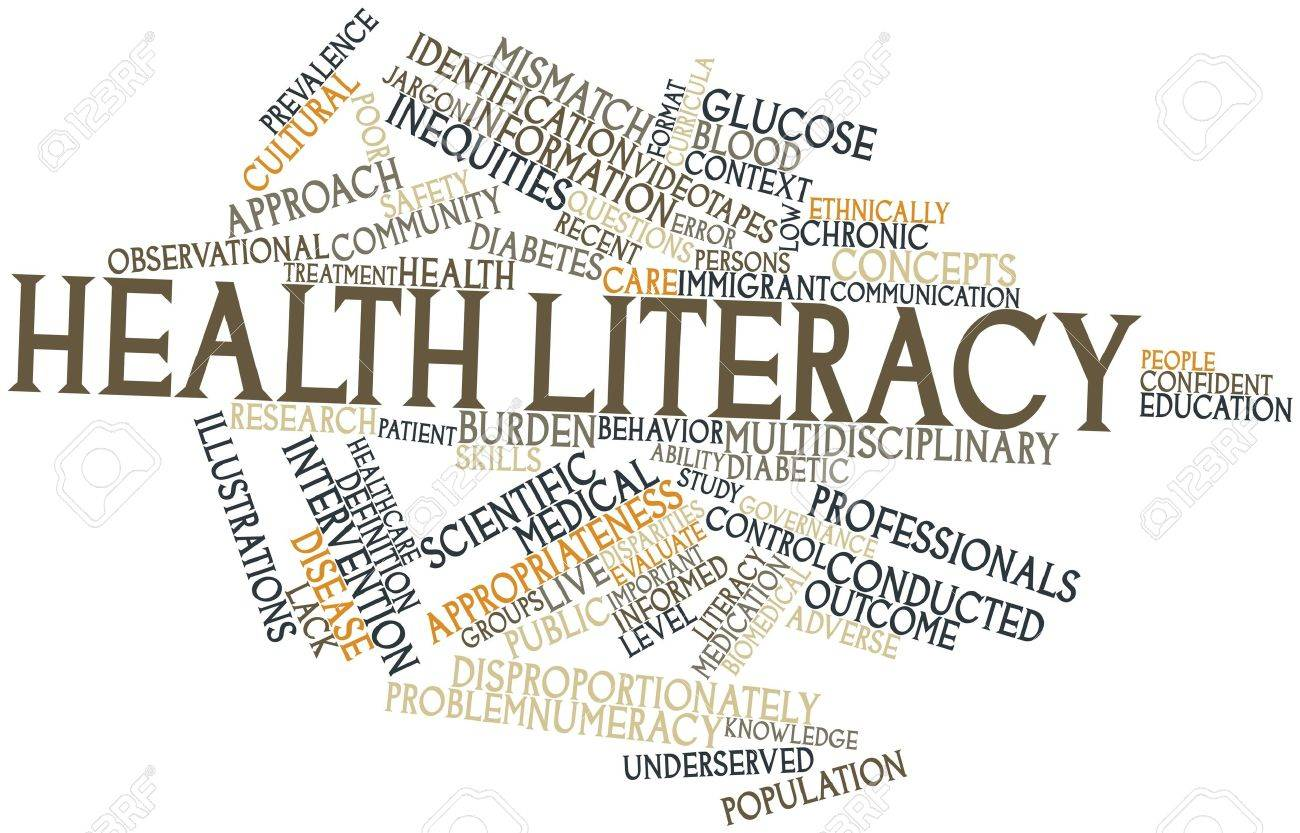Abstract word cloud for Health literacy with related tags and terms Stock Photo - 16631214