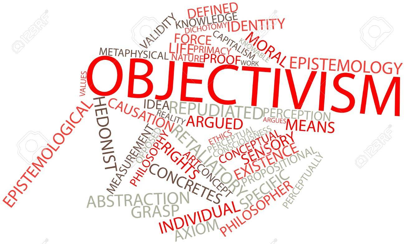Abstract word cloud for Objectivism with related tags and terms Stock Photo - 16631058