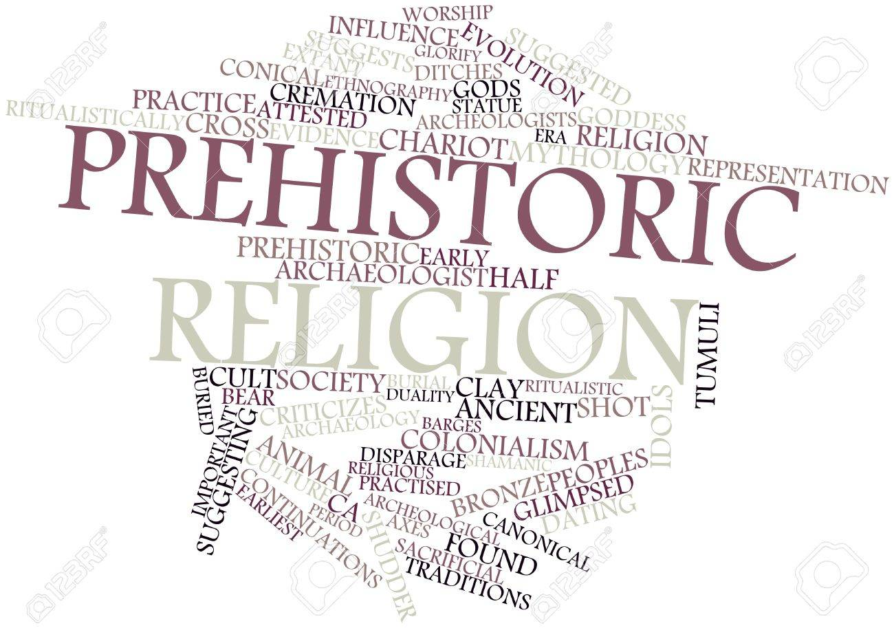 Abstract word cloud for Prehistoric religion with related tags and terms Stock Photo - 16631068