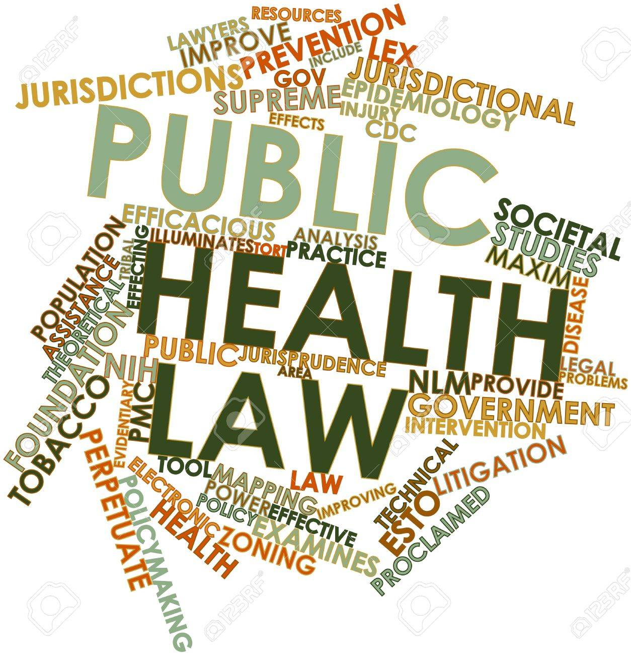 abstract word cloud for public health law with related tags and