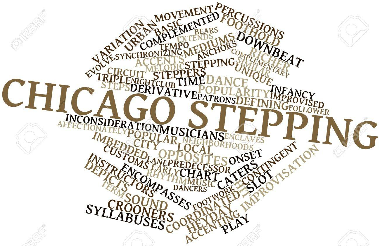 Abstract word cloud for Chicago stepping with related tags and terms Stock Photo - 16631276