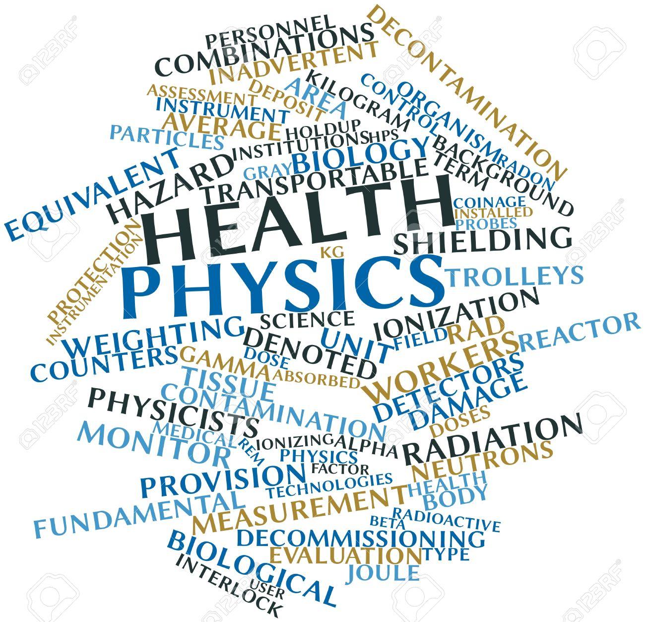 関連タグと用語と保健物理学の抽...
